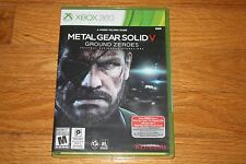 Brand New Factory Sealed Xbox 360 Metal Gear Solid V Ground Zeroes SHIP FREE US