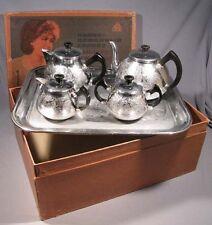 Tea Set Aluminium Russian Old Vintage Propaganda Soviet Teapot Tray Kettle USSR