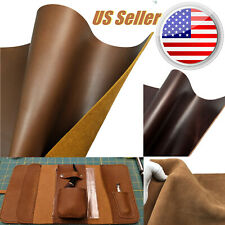 Full Grain Leather Square Brown Cowhide Tooling DIY Leathercraft 5/6OZ,US Stock
