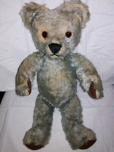 Old Jointed Rare Blue Mohair Teddy Bear possible Chiltern