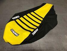 Yamaha Raptor 700 700R  Seat Cover fit 2006 - 2019  Black - Yellow - Black Ribs