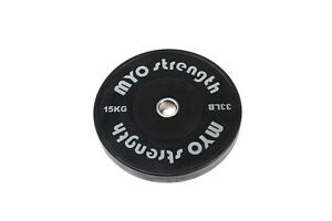 MYO Strength Olympic Solid Rubber Black Bumper Plates Pairs