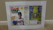 1993 Kellogg's Corn Flakes Cereal Box Nolan Ryan Texas Rangers