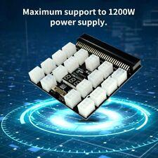 Breakout Board Adapter Netzteil 1200w PSU GPU Mining 17 Port 6 Pin PCI-E