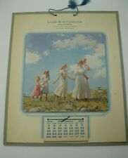 1911 Luce & Hitchcock Insurance Alpena Michigan Advertising Calendar RARE