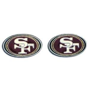 San Francisco 49ers Logo Studded Pierced Earrings SALE