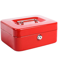 Small Fireproof Security Box Safe Chest Key Lock Money Document Cash Jewelry New
