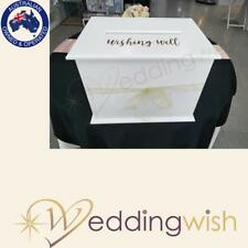 Wishing Well White Card Box with Wishing Well Decal
