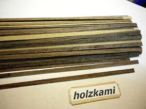 30 Holzleisten  Louro Preto  Bis zu 300 mm lang. 0,6mm stark. Auch Selbstklebend