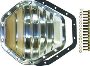 """Chevy / GMC Truck 14 Bolt Finned Polished Aluminum Differential Cover 10.5"""" RG"""