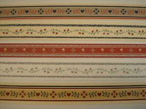 Dollhouse Miniatures Wallpaper Borders - 10 Pieces (Red)