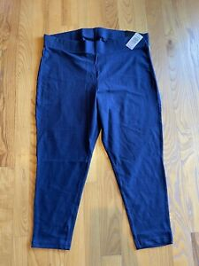 New Torrid navy royal blue Women's Plus Size 3XL Cotton leggings Cropped