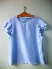 COS SKY BLUE SILK BLOUSE TOP UK 14