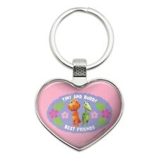 Tiny Buddy Best Friends BFF Dinosaur Train Heart Love Metal Keychain