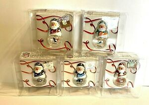 NFL Mini Santa Snow Globe Holiday Christmas Tree Ornament  - Pick Team