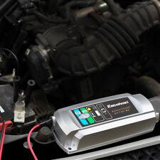 Caricabatterie mantenitore batteria 6V 12V 5A LIFETIME con cavetti per auto moto