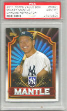 2011 Topps Value Box Mickey Mantle Chrome Refractor PSA 10
