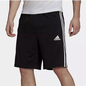 Adidas Designed 2 Move 3 Black Stripes Men's Athletic Workout Training Shorts