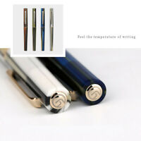 Moonman N3 Acrylic Resin Stripe Writing Fountain Pen Gold Extra Fine Nib 0.38mm