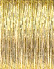 Metallic Gold Foil Fringe Curtain -3 pieces