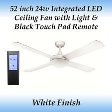 Rotor 52 inch LED Ceiling Fan in White and Black Touch Pad Remote