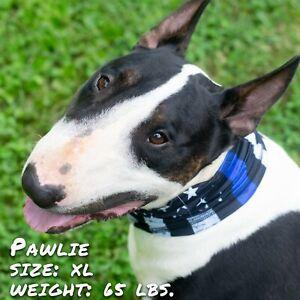 Thin Blue Line Pup Scruff, dog neck gaiter, easier than bandanas