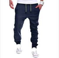 Men's Sweat Pants Sport Cropped Trousers Jogging Gym Slacks Baggy Shorts Casual