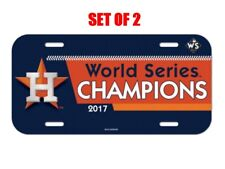 e5ec1af4f SET OF 2 HOUSTON ASTROS 2017 WORLD SERIES CHAMPIONS 6x12 LICENSE PLATE CAR  NEW