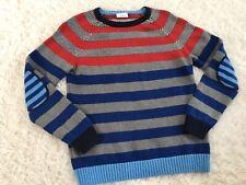 Hanna Andersson Boys Sweater 150 12-14 Red Gray  Dressy EUC