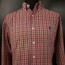 Polo Ralph Lauren Mens Vintage Shirt 2XL Long Sleeve Regular Fit Check BLAKE