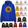 Womens Sunflower Print Long Sleeve Hoodie Sweatshirt Hooded Pullover Tops Blouse