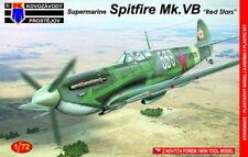 """kovozavody PROSTEJOV 1/72 Supermarine Spitfire mk.vb """" Rojo Estrellas"""" #7268"""