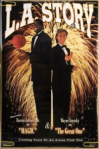 Original Vintage Poster Wayne Gretzky Magic Johnson Sports Memorabilia 1991