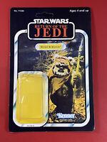 "CUSTOM 6X9 Star Wars Wicket W. Warrick Vintage Style Card Back With Bubble 3.75"""