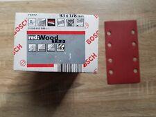Bosch Feuilles Abrasives redwood Top, 93x178 mm, 240, (x50)