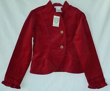 Blazer Jacket by American Girl Rusty Red Corduroy Long Sleeve everyday cotton