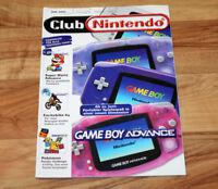 2001 Club Nintendo Magazine Rayman Castlevania Paper Mario F-Zero Indiana Jones