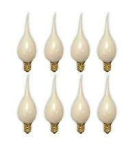 8 Silicone Dipped, Country Style, Electric Candle Lamp Chandelier Bulbs 5 Watt