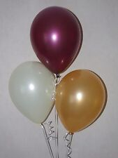 Burgundy Gold Balloons ☆ Ideal Harry Potter Party Decorations ☆15 Helium Quality