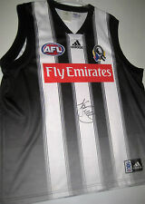 COLLINGWOOD- NATHAN BUCKLEY HAND SIGNED TRAINING JERSEY UNFRAMED