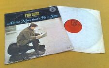 """Phil Ochs """" All The News THAT'S Fit To Sing """" Super Vinyled Raro Mono UK Press"""