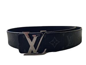 100% Authentic W Receipt LOUIS VUITTON Men  Belt Size 85/34 Reversible Pre-owned