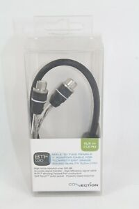 Audison BTF030 RCA Y-Adapter Connection 2 Female to 1 Male 1' Twisted Pair