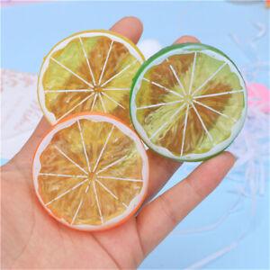 6-pack Multicoloured Lemon Slices Resin Flat Back Embellishment Decoration 2 in