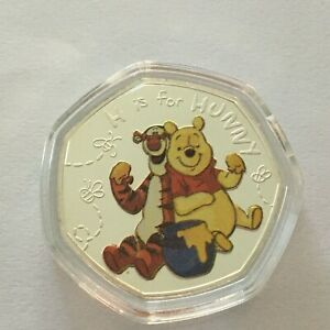 Disney Winnie the Pooh H is for Hunny Silver Plated Commemorative  Coin 2019