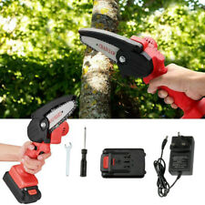 More details for cordless mini chainsaw electric one-hand saw woodworking wood cutter w/ battery