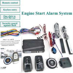 12V Car SUV Keyless Entry Push Button Alarm System Remote Engine Start Stop Kit