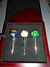 Set of 3 globe wine bottle stoppers