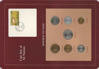 Coin sets of All Nations Chad 1976-1983 UNC 500 Francs CAS 1976A 100 Fr CAR 1983