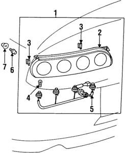 Toyota OEM 97-98 Supra Taillight Tail Light Lamp Rear-Socket & Wire 81555-14700